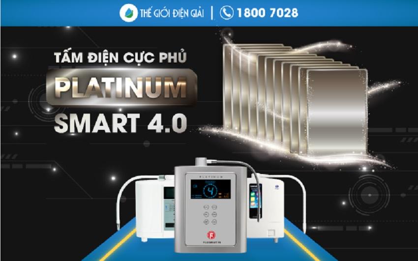 Máy lọc nước ion kiềm giàu Hydrogen chuẩn y tế sử dụng tấm điện cực phủ Platinum