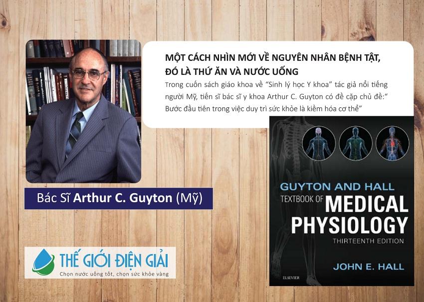 Bác sĩ Arthur C. Guyton chia sẻ lợi ích của nước ion kiềm của máy lọc nước ion kiềm Panasonic