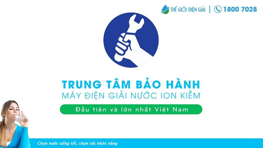 Thế Giới Điện Giải – Trung tâm bảo hành máy điện giải nước ion kiềm kangen đầu tiên tại Việt Nam