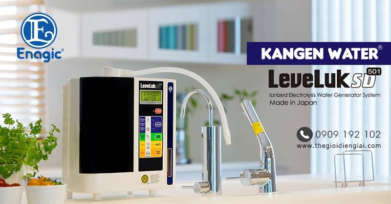 máy lọc nước chính hãng loại tốt nhất Kangen Leveluk SD501 được xem là 1 trong 5 dòng máy điện giải tạo nước ion kiềm bán chạy nhất tại Thế Giới Điện Giải