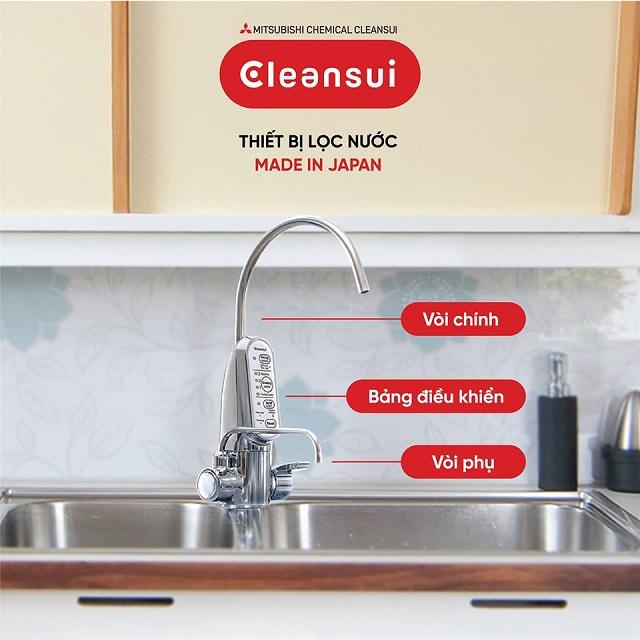 Máy lọc nước và tạo nước hydrogen của Mitsubishi Cleansui Model AL700E thiết kế sang trọng