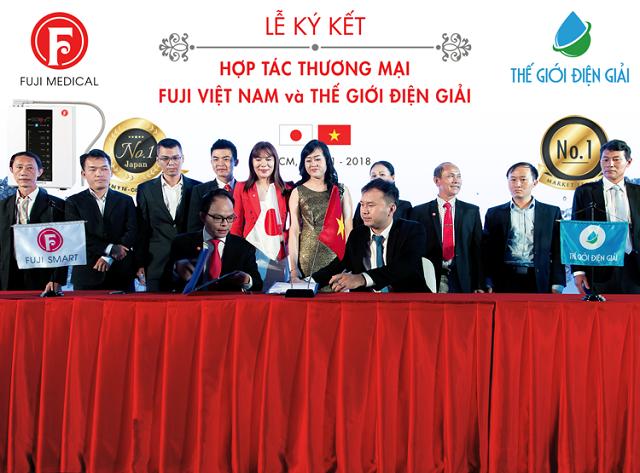 Lễ ký kết hợp tác thương mại giữa Tập đoàn Fuji Medical và Thế Giới Điện Giải