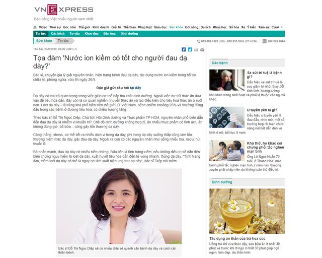 Bài báo được đăng trên báo VnExpress ngày 23/09/2019