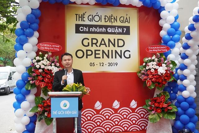 Chia sẻ của CEO Thế Giới Điện Giải tại buổi lễ khai trương showroom mới.