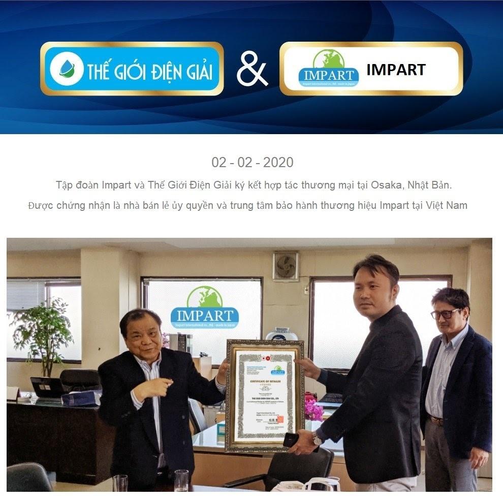 Tập đoàn Impart và Thế Giới Điện Giải ký kết hợp tác thương mại