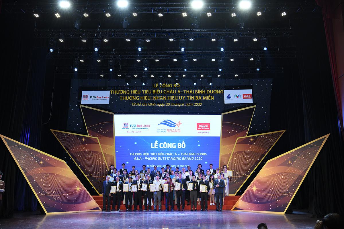 Buổi lễ trao giải cho các đại diện thương hiệu tiêu biểu nhất khu vực năm 2020