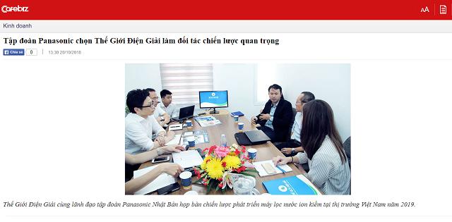 Bài viết được đăng trên mục Kinh doanh của Báo CafeBiz