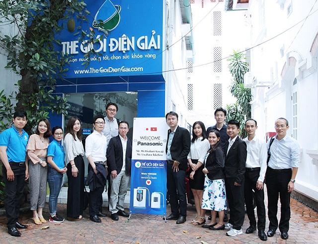 Đoàn lãnh đạo Panasonic đến thăm showroom Thế Giới Điện Giải tại TP.HCM