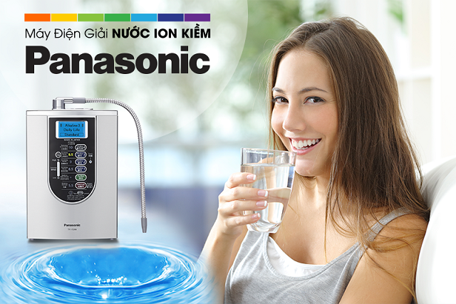 Máy điện giải nước ion kiềm Panasonic TK-AS66 có thể tạo ra 7 loại nước quý