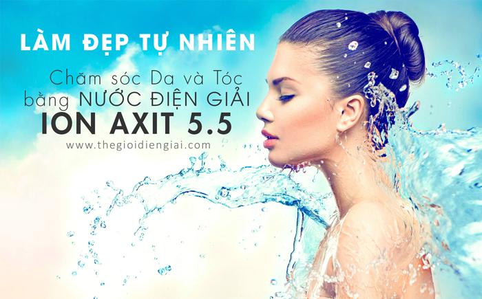 Dùng nước ion axit nhẹ tắm rửa các vùng da bị bệnh giúp cải thiện tình trạng