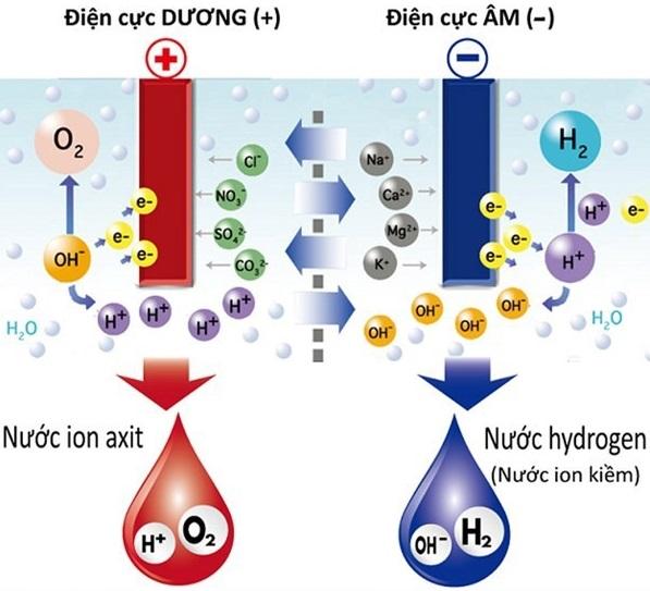 Quá trình điện phân nước