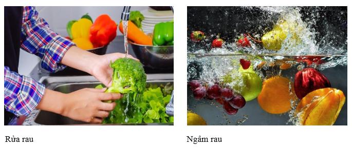Nước ion kiềm hỗ trợ rửa rau - ngâm rau
