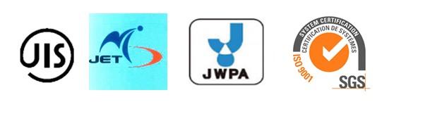 Máy điện giải Excel của Impart đáp ứng các tiêu chuẩn chất lượng quốc tế nghiêm ngặt, đạt tiêu chí: JET, JIS, JWPA Nhật Bản, chứng nhận SGS Thụy Sĩ.