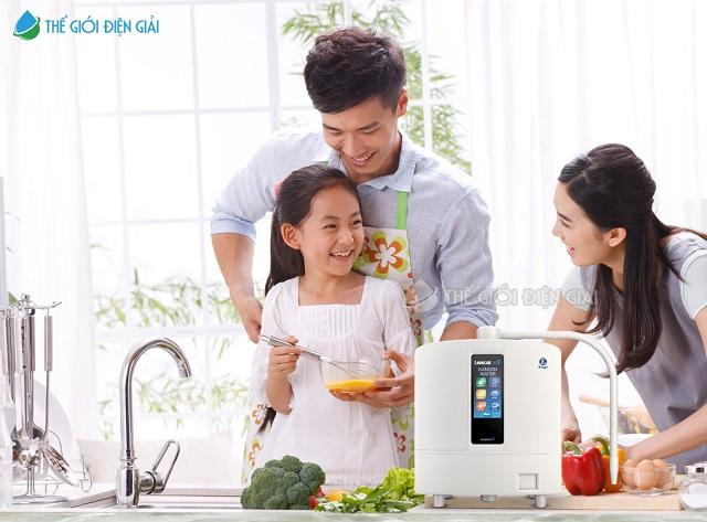 máy điện giải chăm sóc sức khỏe cả gia đình