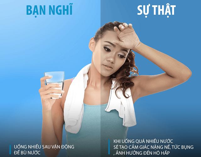 Chỉ cần uống đủ, không cần uống quá nhiều nước