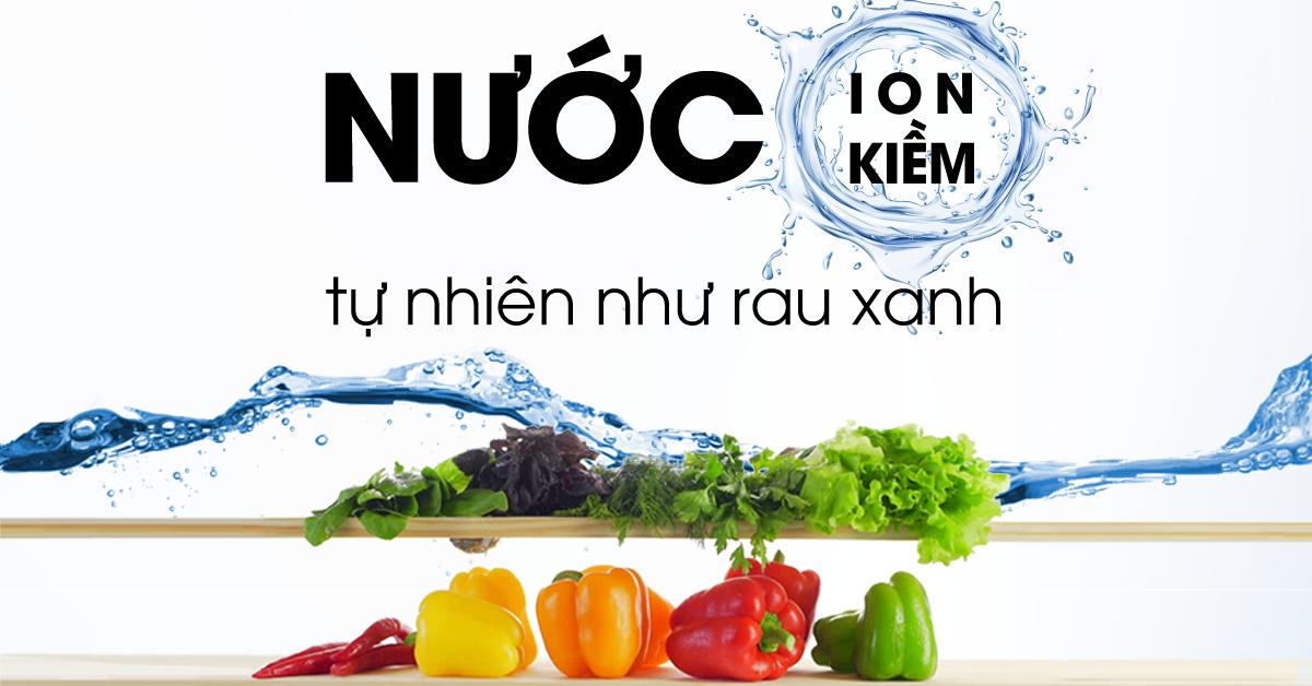 Nước ion kiềm có tính kiềm tự nhiên như rau xanh