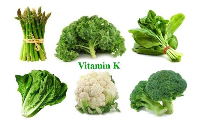 rau nào nhiều vitamin k
