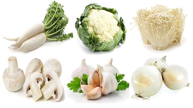 Các thực phẩm có màu trắng có nhiều công dụng rất tốt cho sức khỏe
