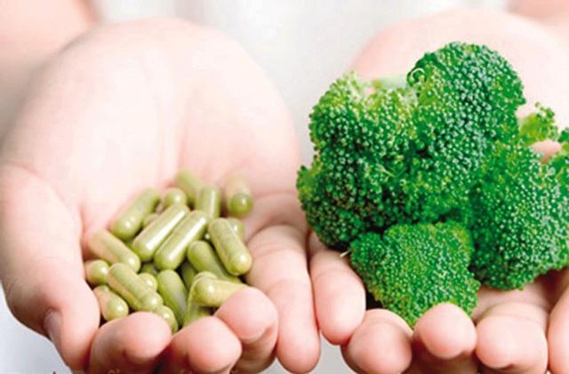 Nên chọn bổ sung các dưỡng chất từ thực phẩm tự nhiên là tốt nhất