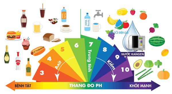 Thực phẩm có tính axit - tính kiềm