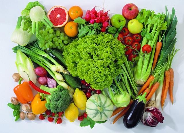 các loại vitamin trong rau củ rất tốt cho bệnh nhân hở van tim